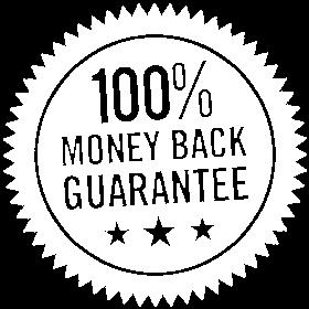 Money Back Guarantee White Badge