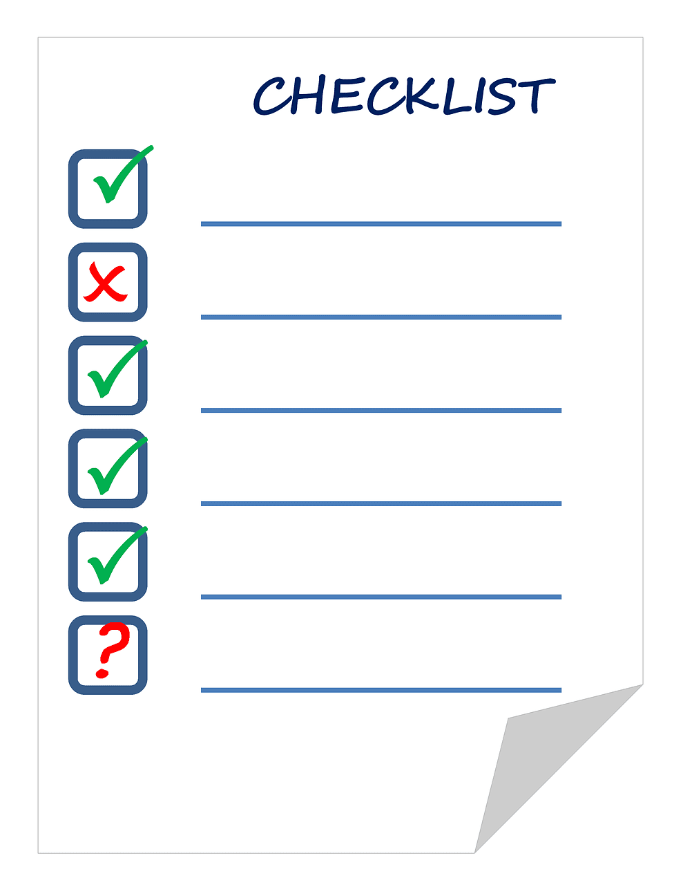 checklist, list, check