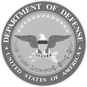 Department Of Defense Black and White Logo